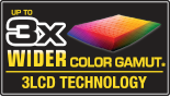 Up to 3x Wider Color Gamut